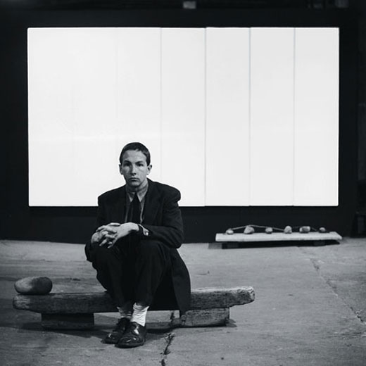 Rauschenberg with White Painting